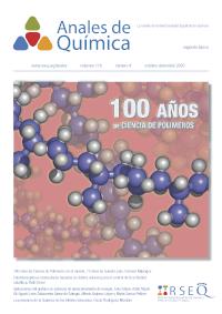 Portada de la Revista Anales de Química